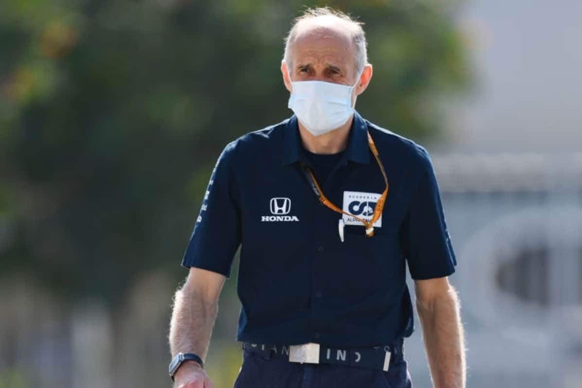 Scuderia AlphaTauri Team Principal Franz Tost walks in the Paddock during previews ahead of the F1 Grand Prix of Abu Dhabi at Yas Marina Circuit on December 10, 2020 in Abu Dhabi, United Arab Emirates. (Photo by Clive Mason - Formula 1/Formula 1 via Getty Images)