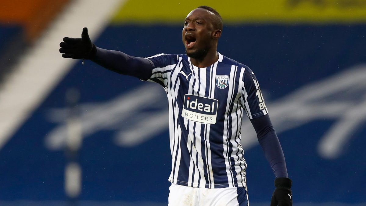 Mbaye Diagne in action for West Brom