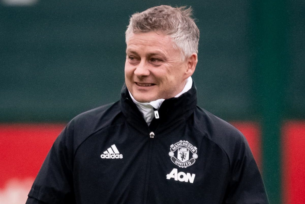 Ole Gunnar Solskjaer reacts to facing AC Milan in Europa League