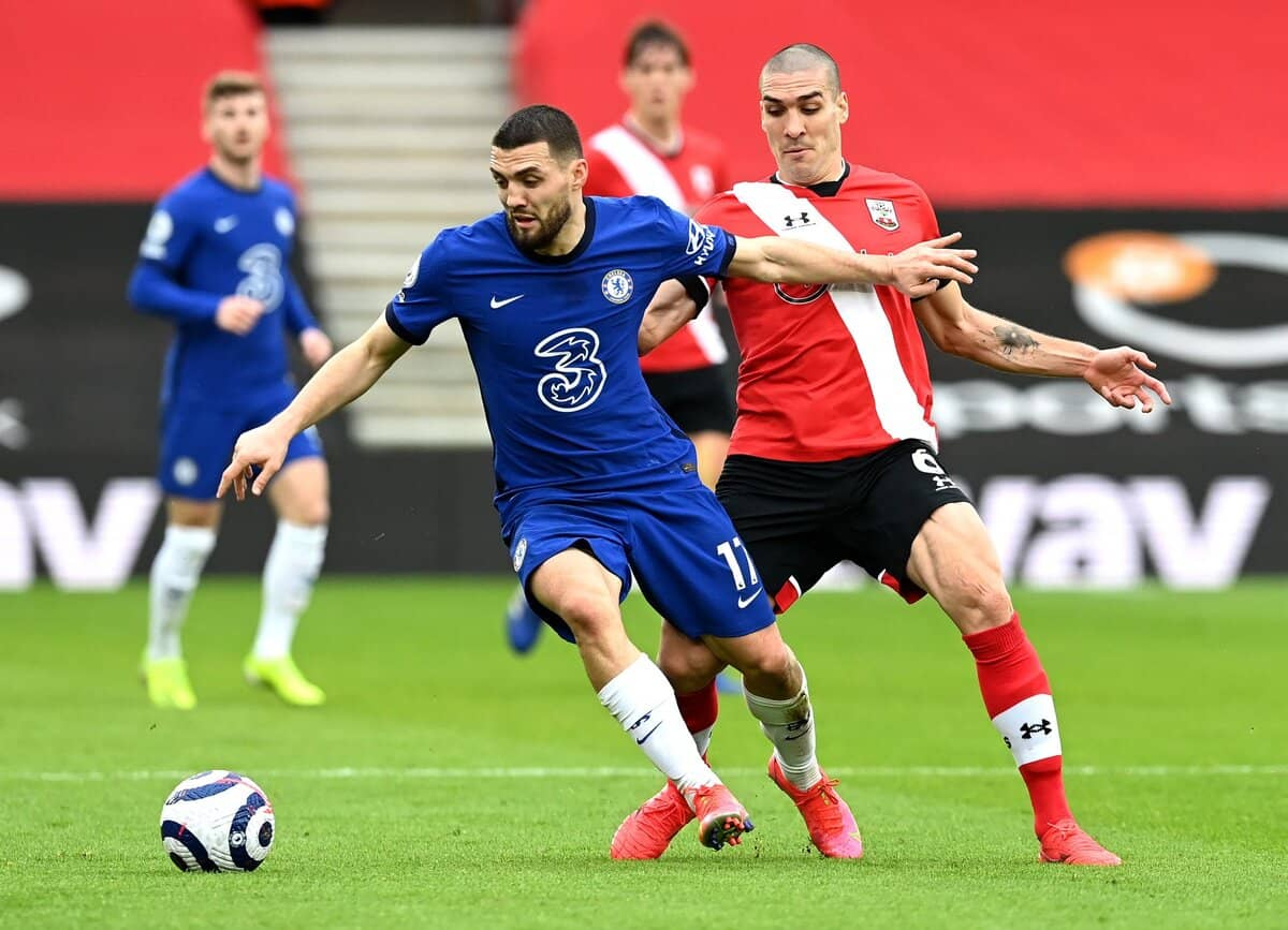 Mateo Kovacic in action for Chelsea