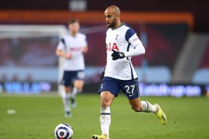 Lucas Moura in action for Spurs