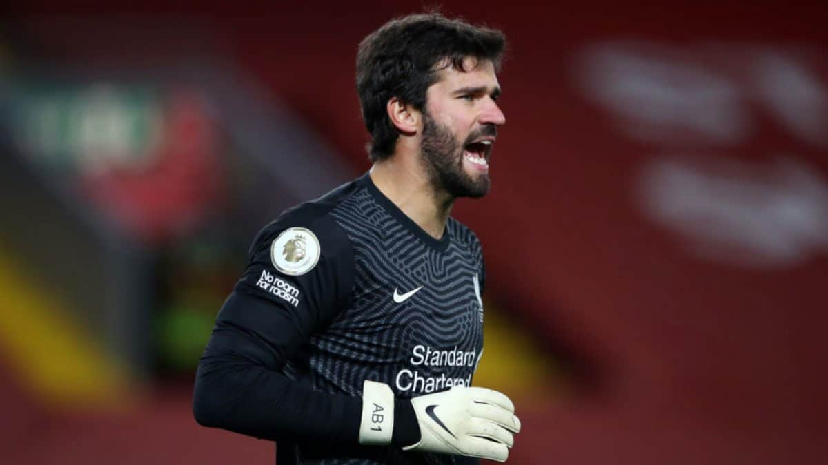 Alisson scored goal during training