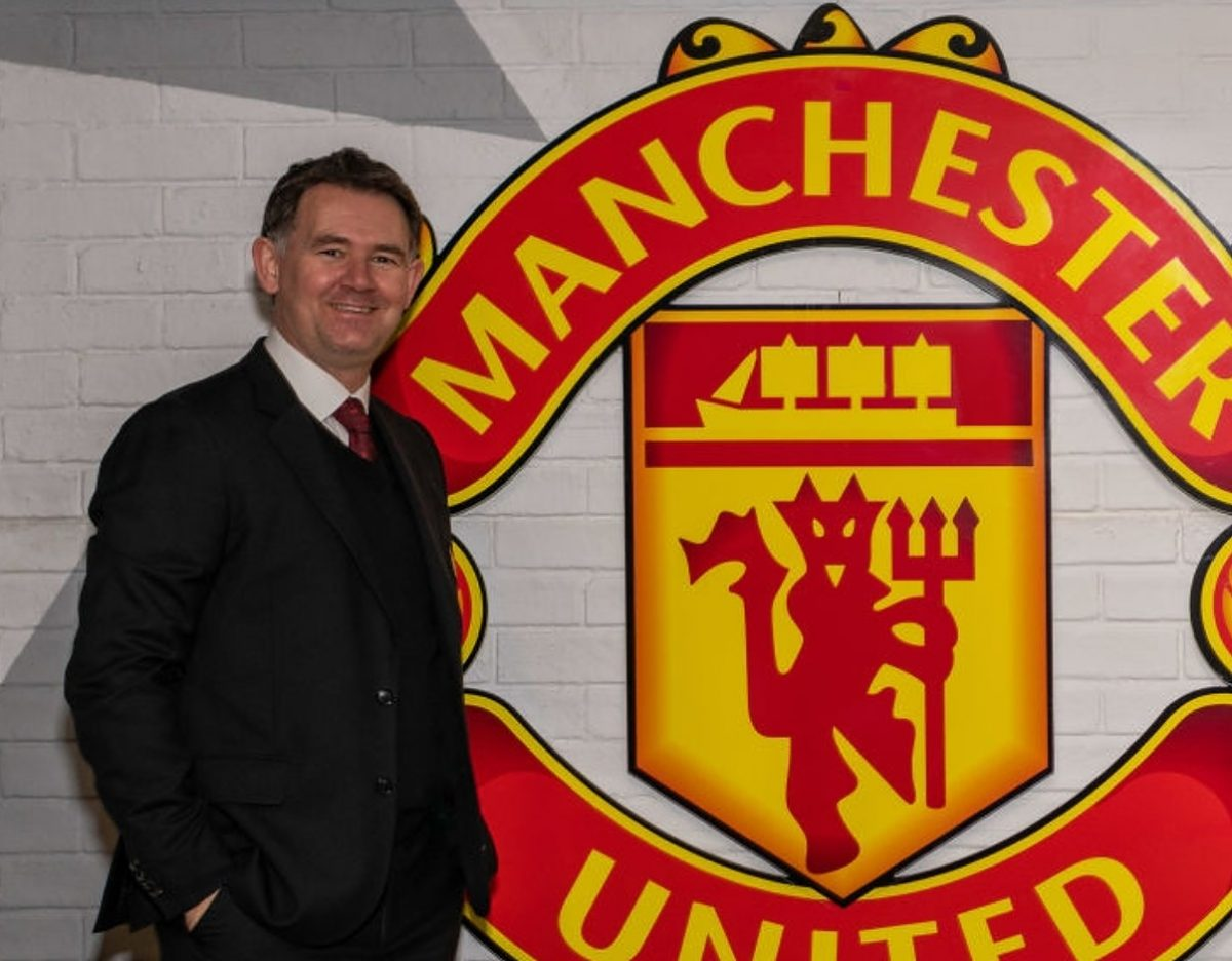 John Murtough (L) and Darren Fletcher pose after being named Football Director and Technical Director of Manchester United at Aon Training Complex on March 10, 2021 in Manchester, England. (Photo by Ash Donelon/Manchester United via Getty Images)