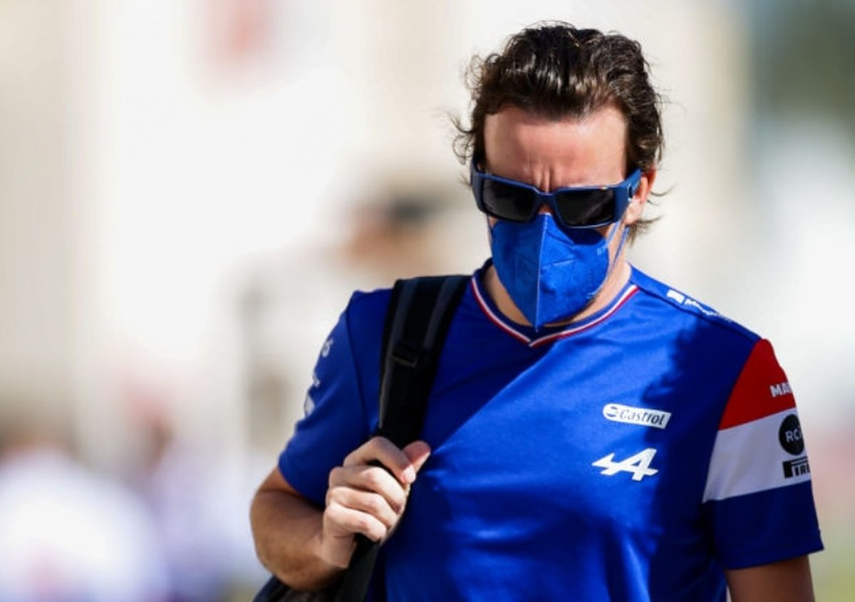 Fernando Alonso of Alpine F1 and Spain during Day Three of F1 Testing at Bahrain International Circuit on March 14, 2021 in Bahrain, Bahrain. (Photo by Peter Fox/Getty Images)