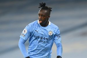 Benjamin Mendy in action for Manchester City