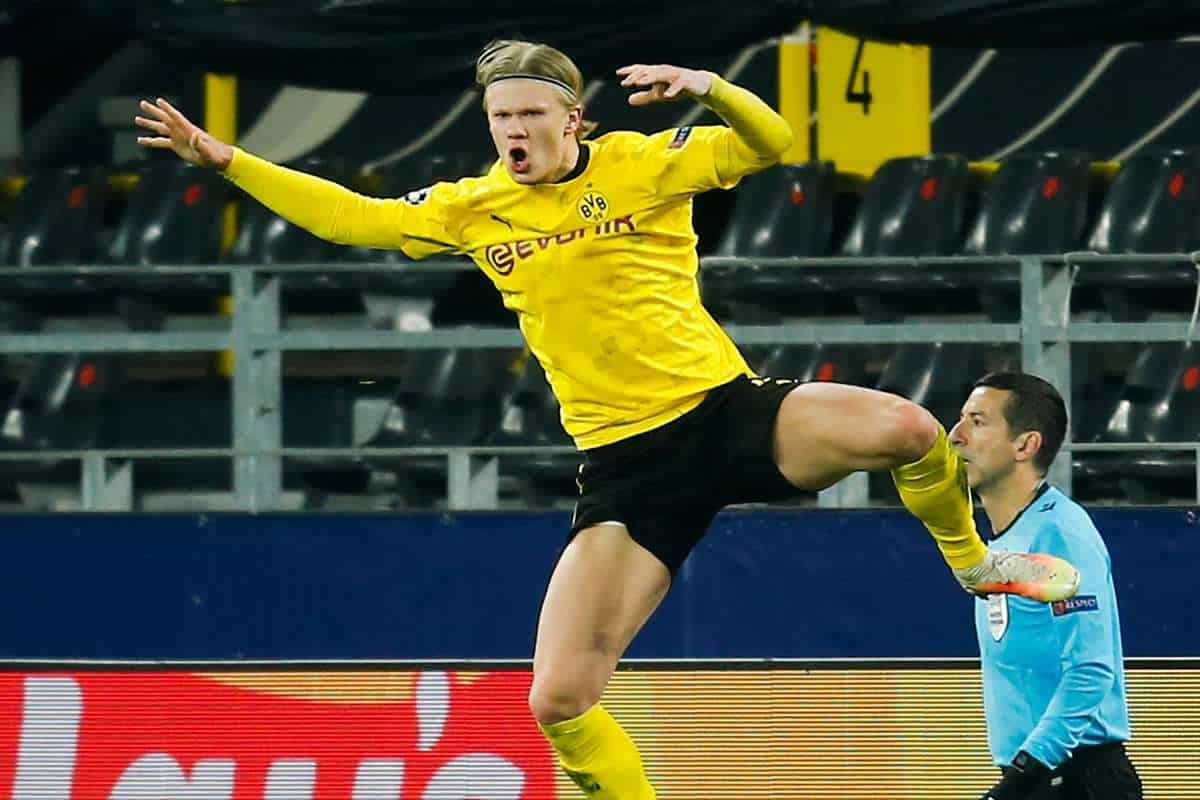 Ole Gunnar Solskjaer reacts to Erling Haaland's record amid Manchester United interest