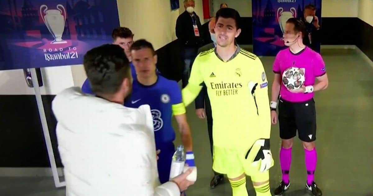 What Thibaut Courtois told Olivier Giroud in the tunnel over Timo Werner in Chelsea draw