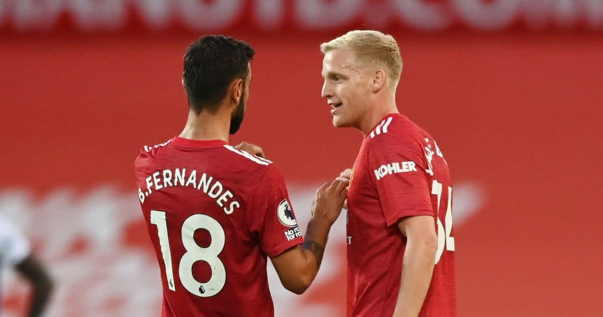 Bruno Fernandes sends a message to Donny van de Beek following Manchester United's win on his birthday