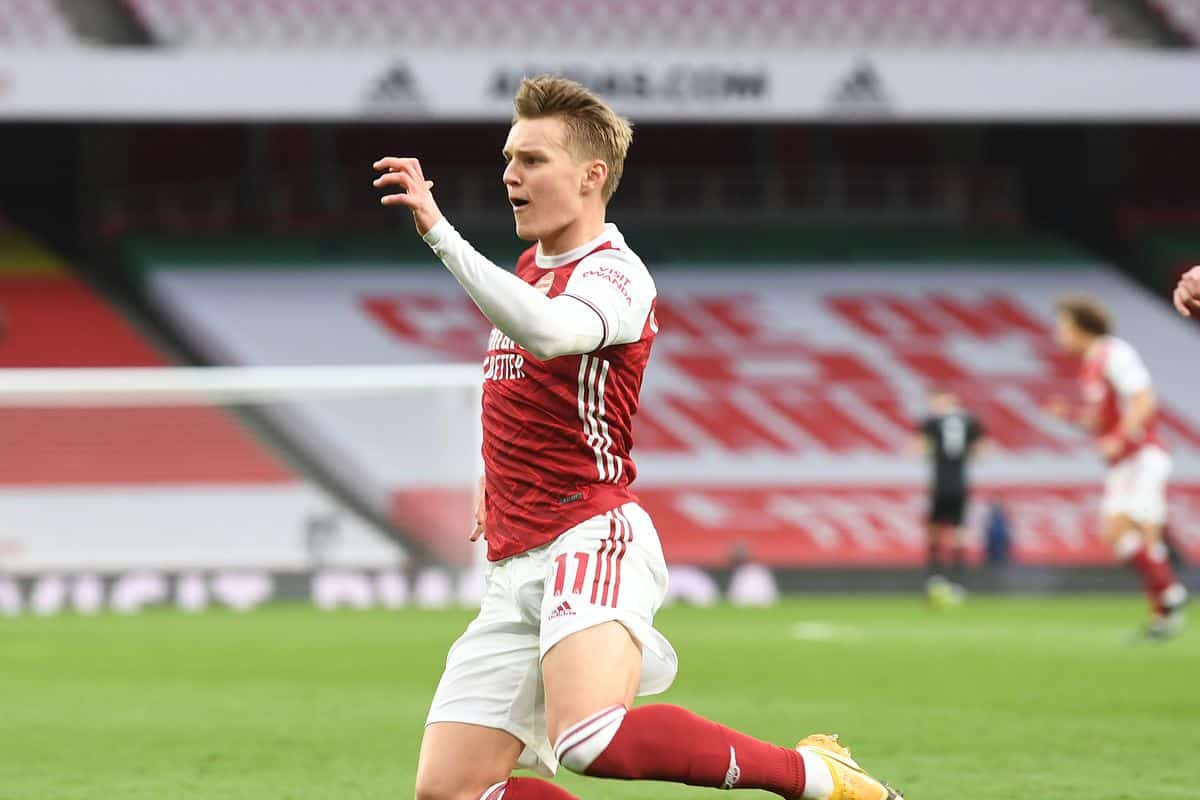 Real Madrid issue one-word response to Arsenal over Martin Odegaard transfer