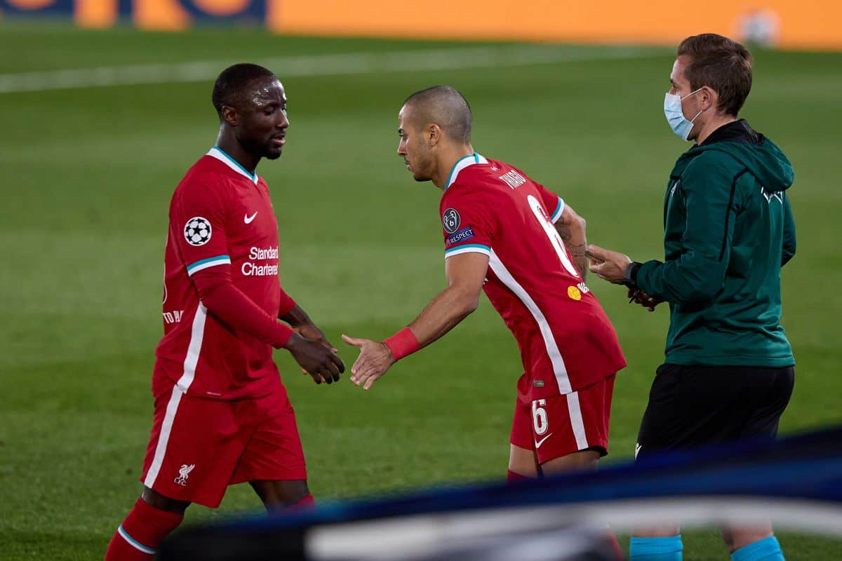 Jurgen Klopp speaks out on why he substituted Naby Keita in Real Madrid defeat