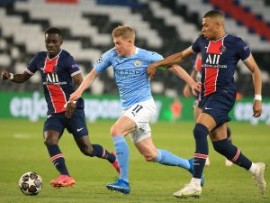 What Kevin De Bruyne said to Riyad Mahrez before free-kick winner for Manchester City against PSG