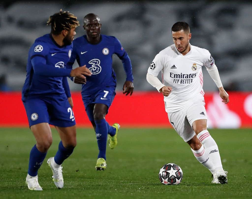Edem Hazard sends six-word message to Chelsea after Real Madrid draw