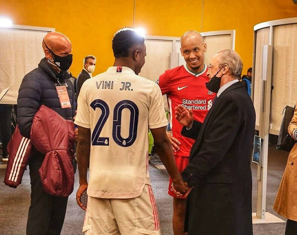 What Liverpool's Fabinho told Real Madrid president Florentino Perez in private tunnel chat