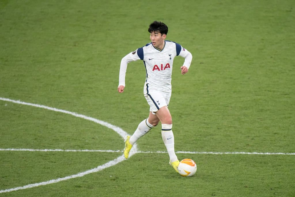 Heung-Min Son in action for Tottenham