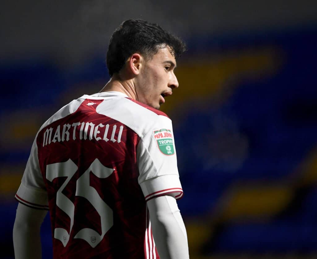 """Time to play this lad"". Arsenal fans react to Gabriel Martinelli's Twitter post"