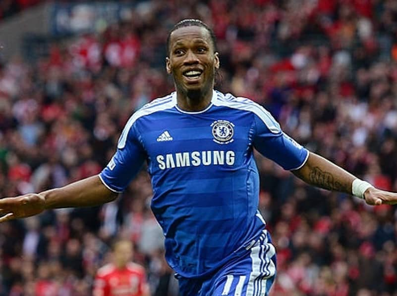 Didier Drogba of Chelsea celebrates as he scores their second goal during the FA Cup with Budweiser Final match between Liverpool and Chelsea at Wembley Stadium on May 5, 2012 in London, England. (Photo by Shaun Botterill/Getty Images)