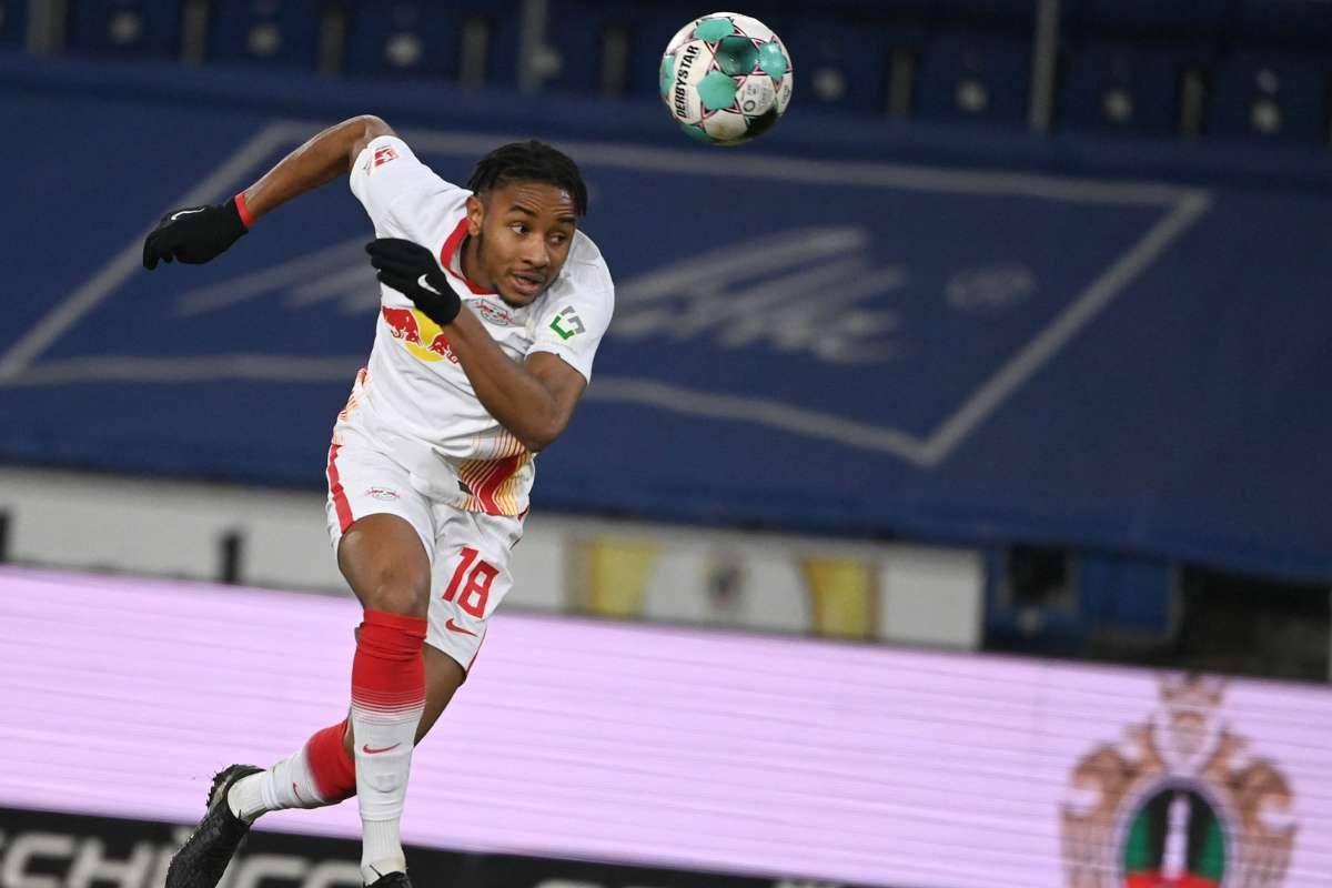 Christopher Nkunku in act5ion for RB Leipzig