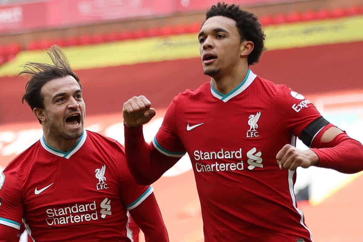 Trent Alexander-Arnold has savage reaction after he scored winner for Liverpool at Anfield