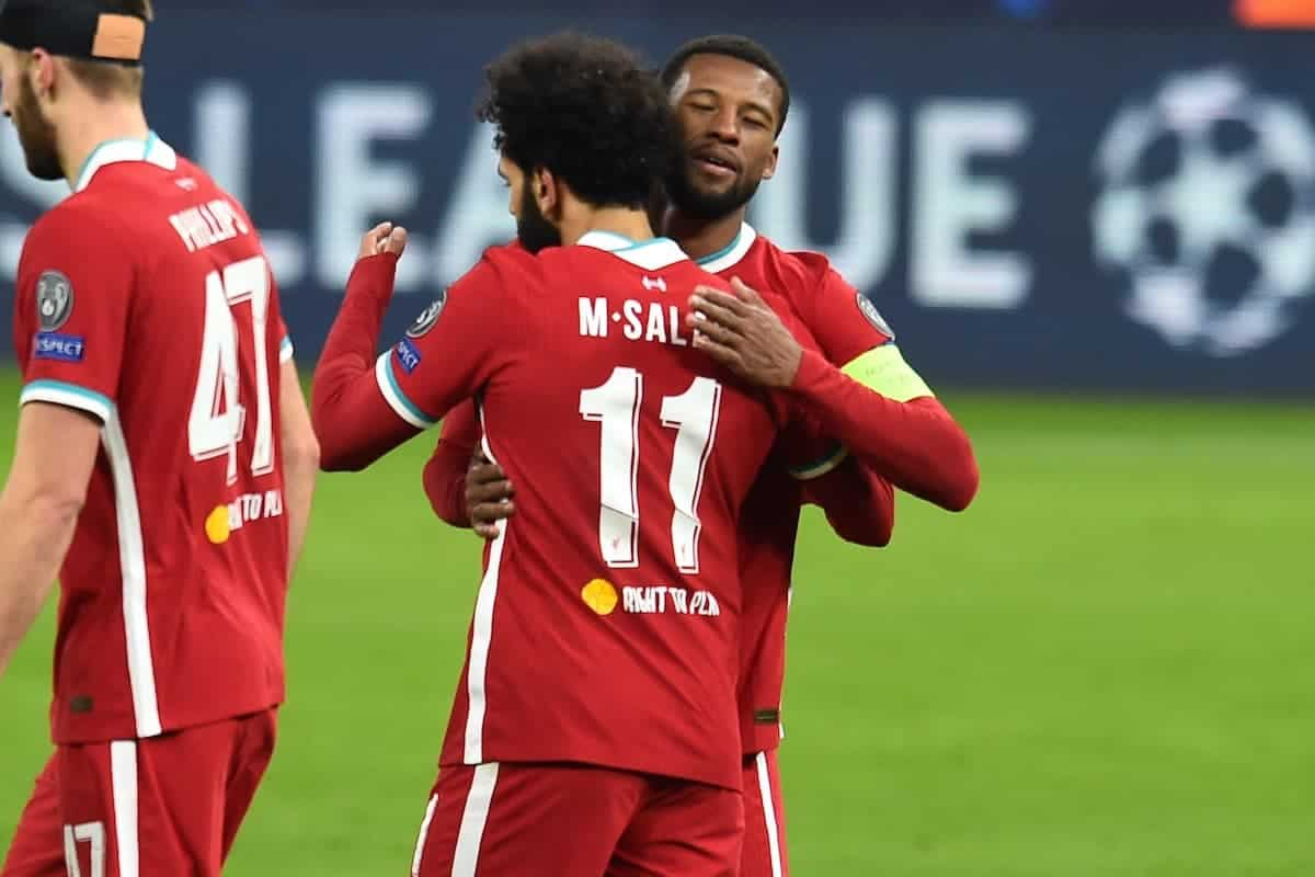 Mohamed Salah sends a message to Georginio Wijnaldum as he is set to leave