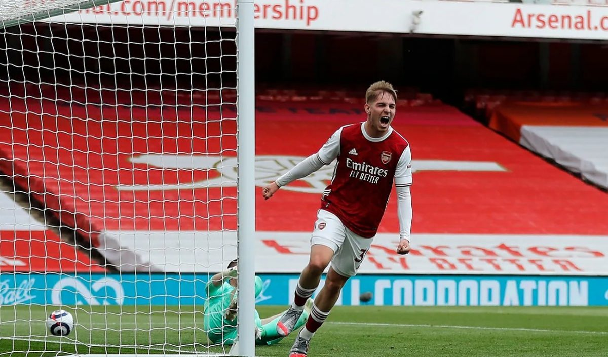 Arsenal youngster Emile Smith Rowe
