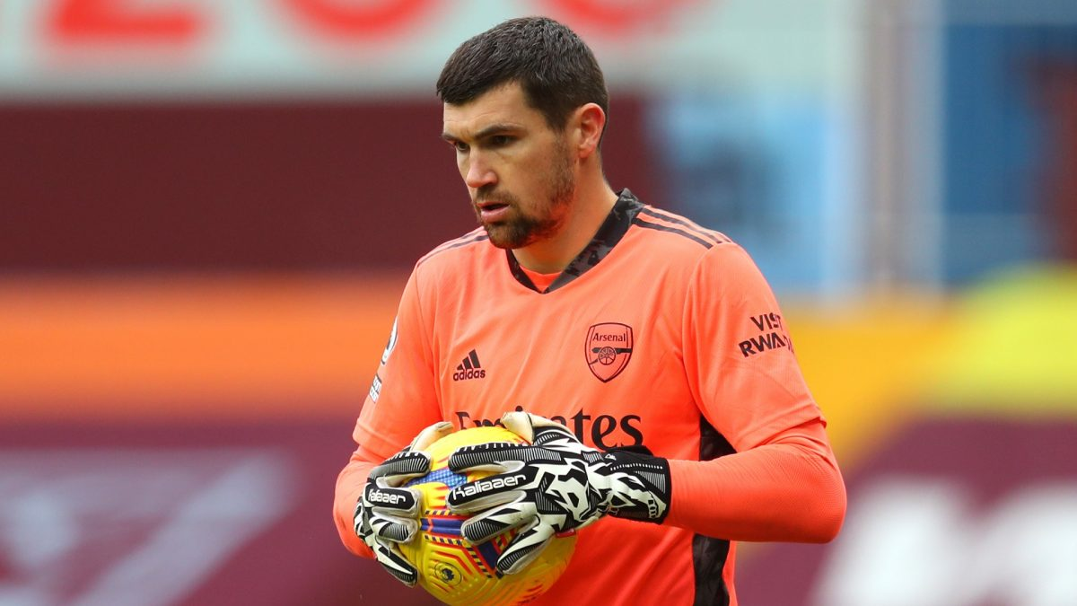 Mat Ryan reacts to Arsenal's win over Newcastle and his clean sheet