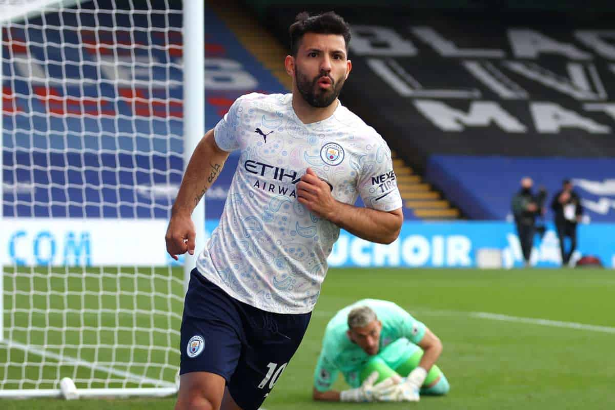 Sergio Aguero sends Champions League message after scoring in Crystal Palace win