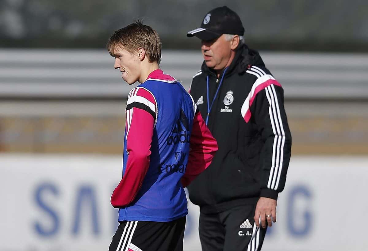 """Martin Odegaard reacts to Carlo Ancelotti's """"not play"""" claim ahead of Real Madrid reunion"""