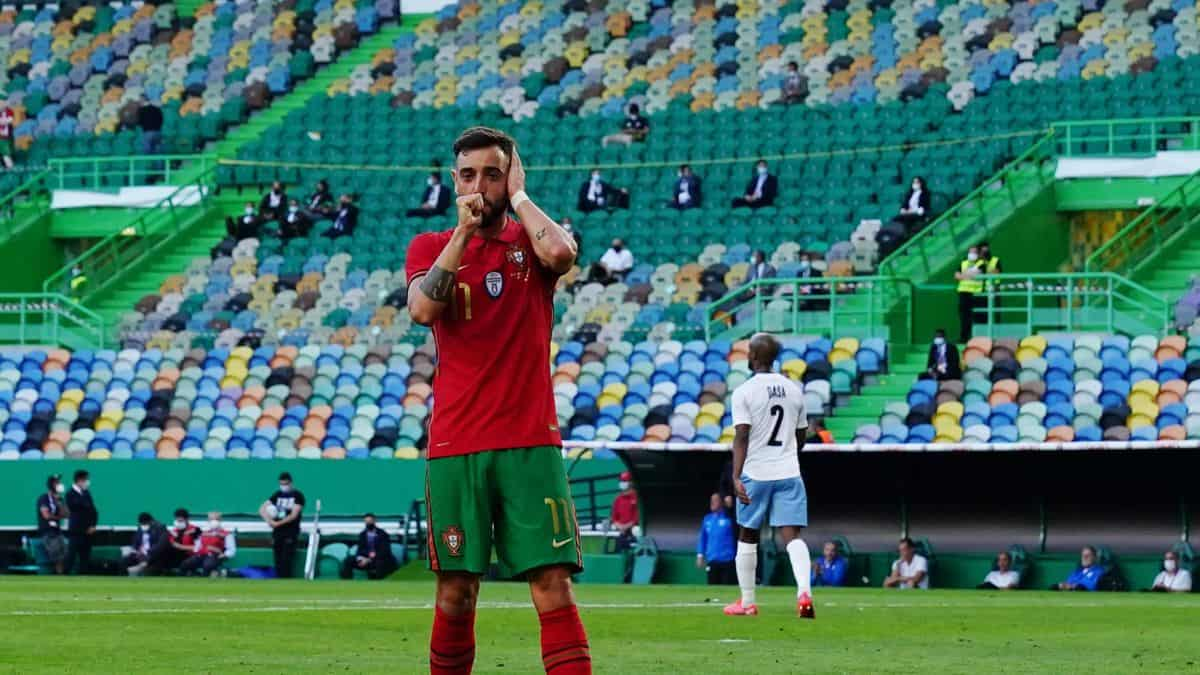 Bruno Fernandes scores stunning goal for Portugal in preparations ahead of EURO 2020