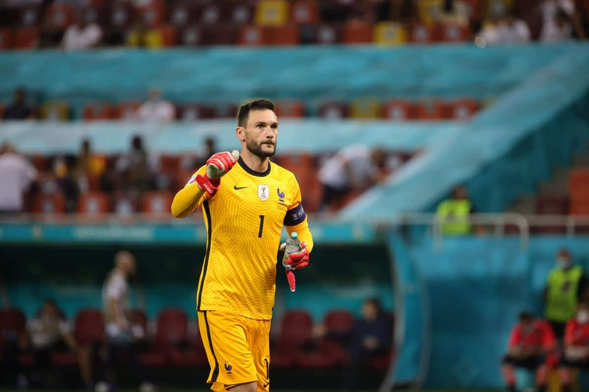 Hugo Lloris reacts as France got eliminated from EURO 2020