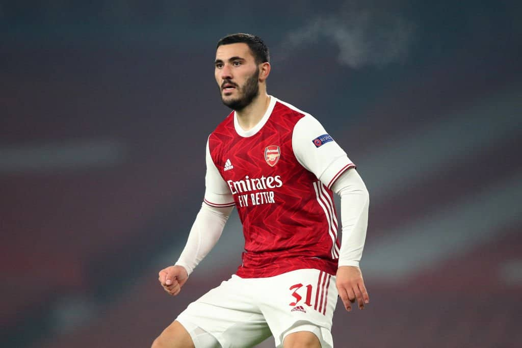 Sead Kolasinac in action for Arsneal