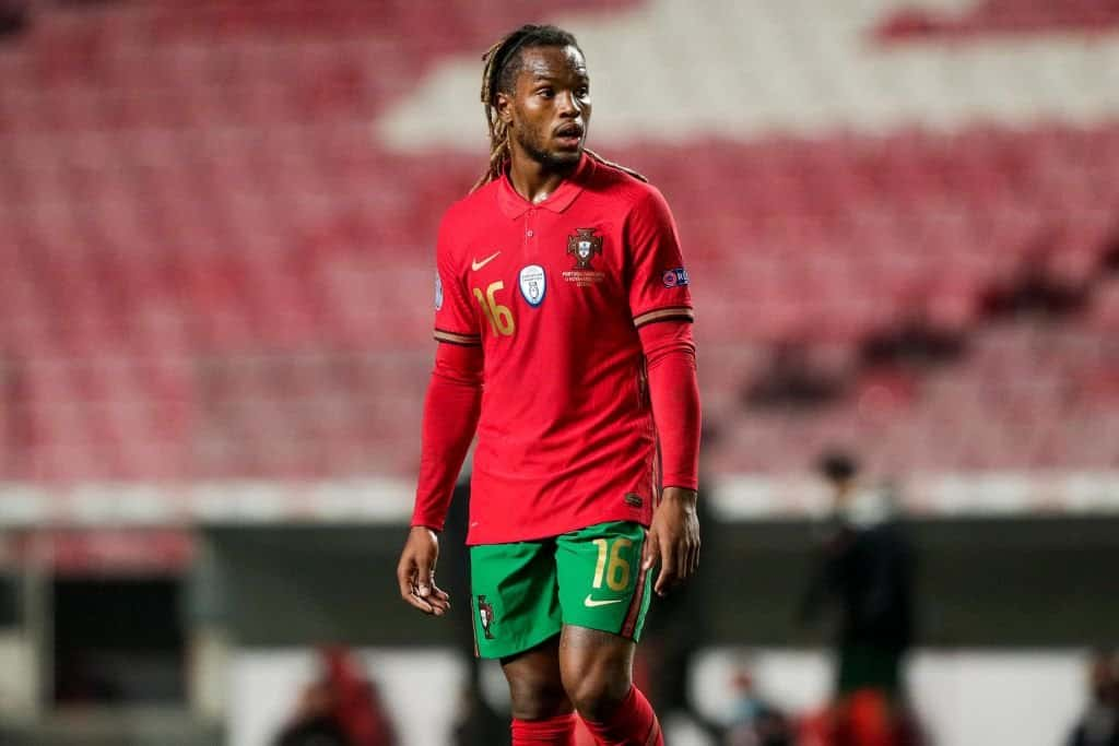 Renato Sanches in action Portugal national team for
