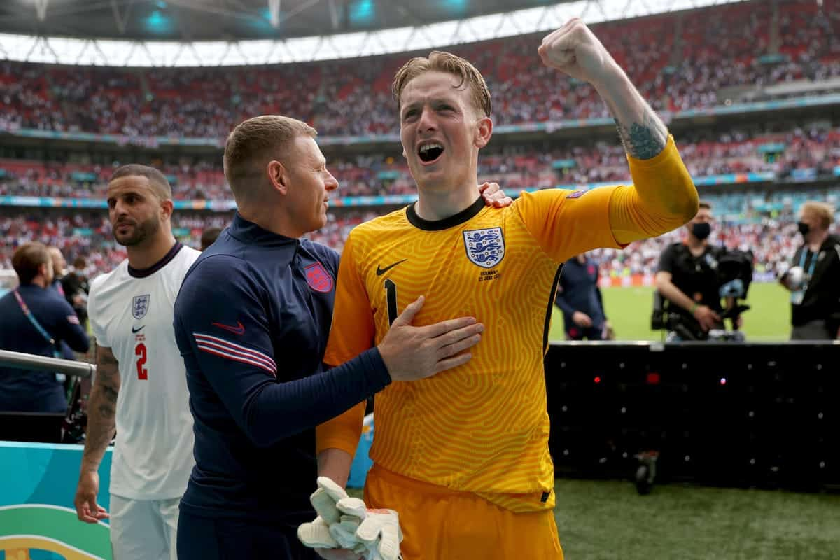 Jordan Pickford sends three-word message after England beat Germany in Euros