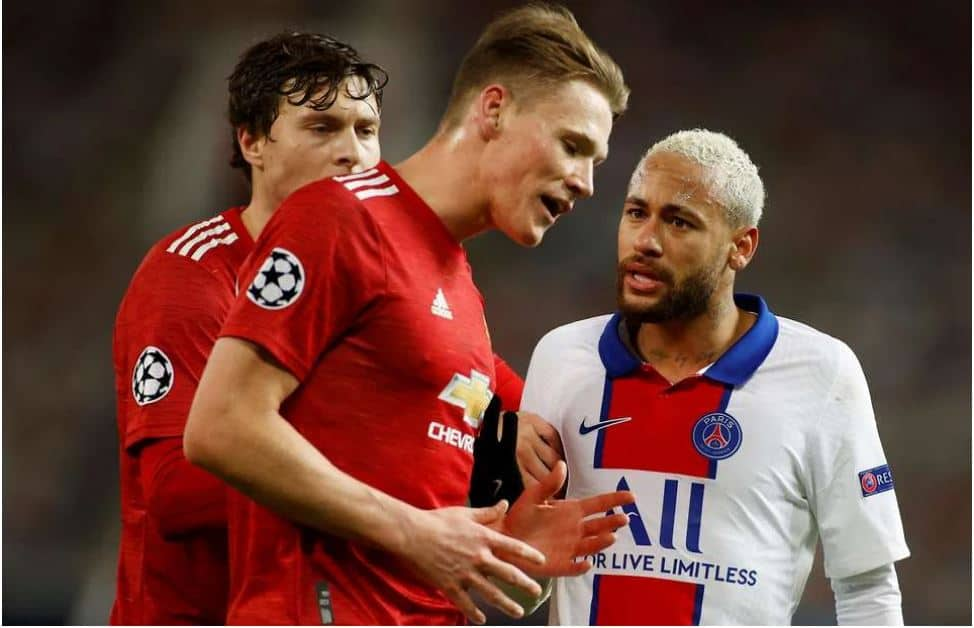 """Scott McTominay makes """"aggressive"""" claim over Neymar in X-rated fight"""