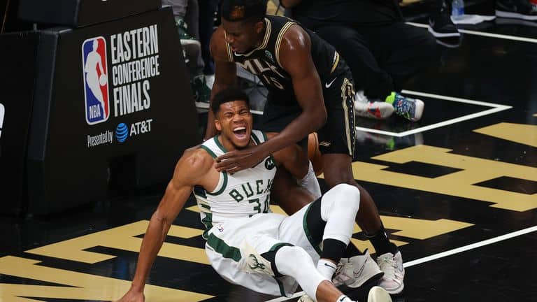 Trae Young sends a message to Giannis Antetokounmpo following his injury in Game 4