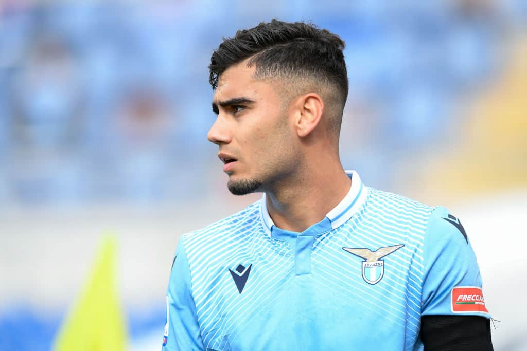 Andreas Pereira in action for Lazio on loan from Manchester United