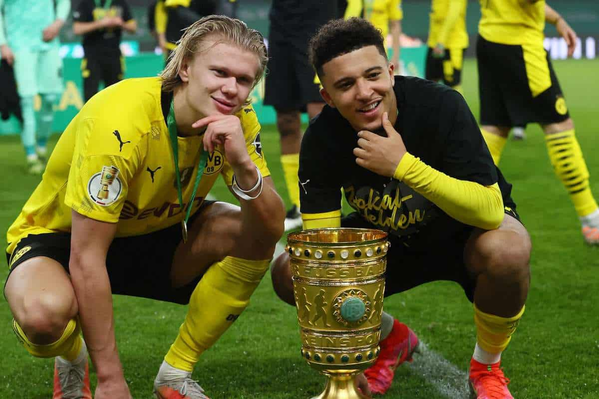 Erling Haaland finally reacts to Jadon Sancho's Manchester United transfer
