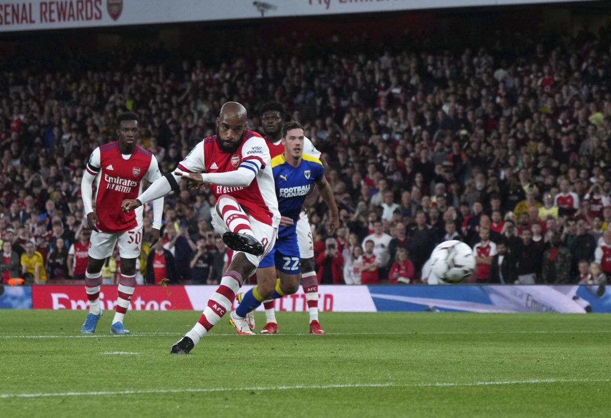 Arsenal beat Wimbledon in Carabao Cup third round as Alexandre Lacazette shines