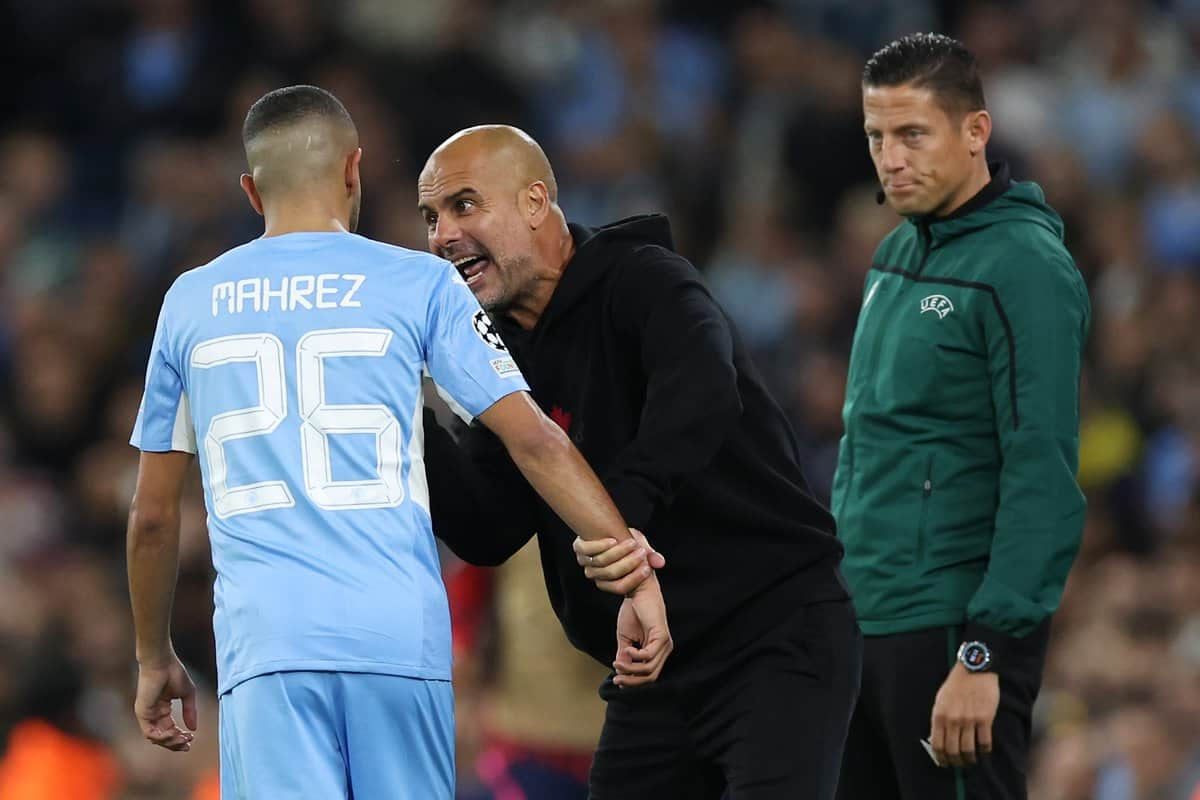 Pep Guardiola explains angry exchange with Jack Grealish and Riyad Mahrez during Manchester City's win over RB Leipzig