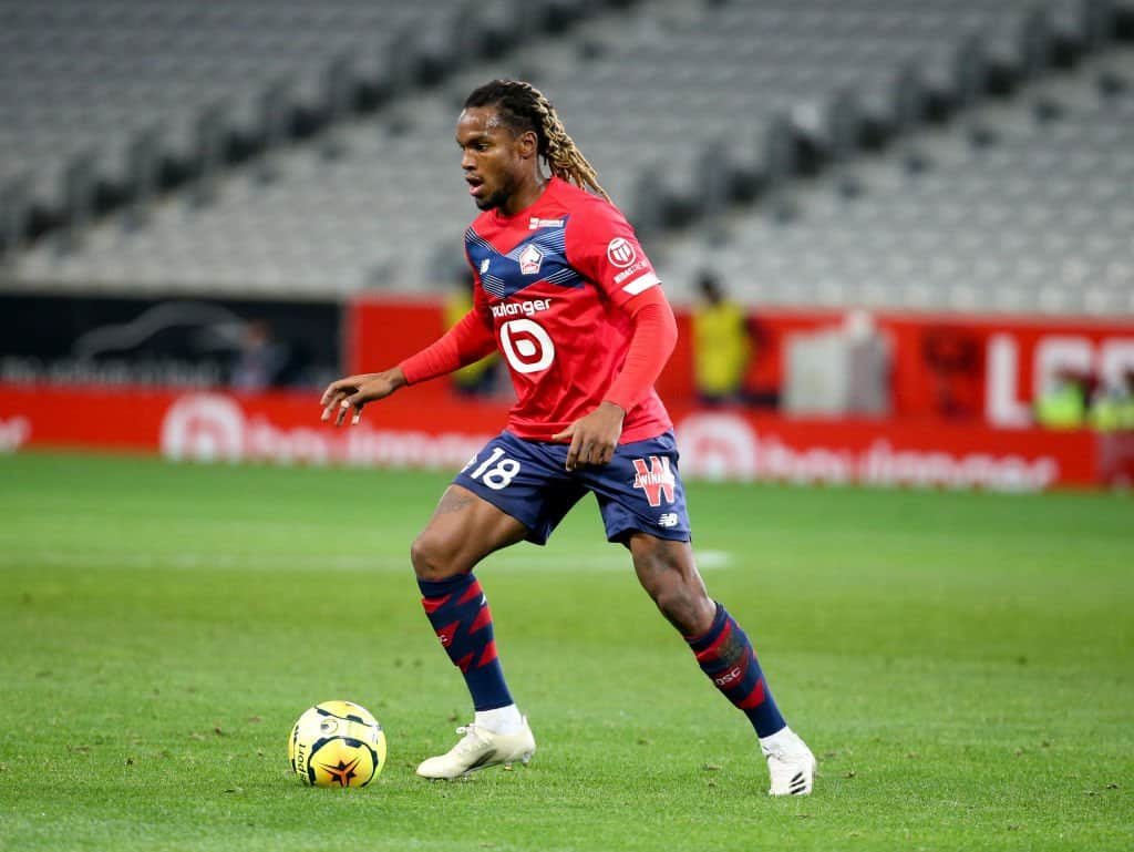 Renato Sanches in action for Lille