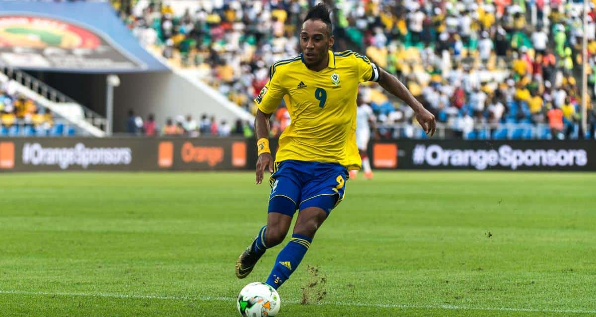Pierre-Emerick Aubameyang scores an important goal for Gabon in the World Cup Qualifiers
